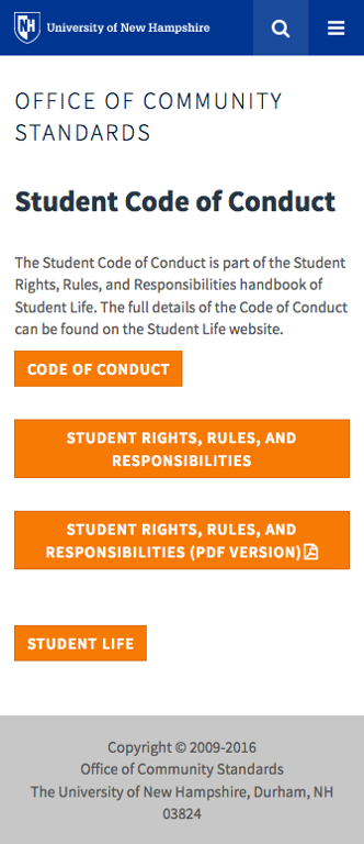 Code of Conduct - mobile