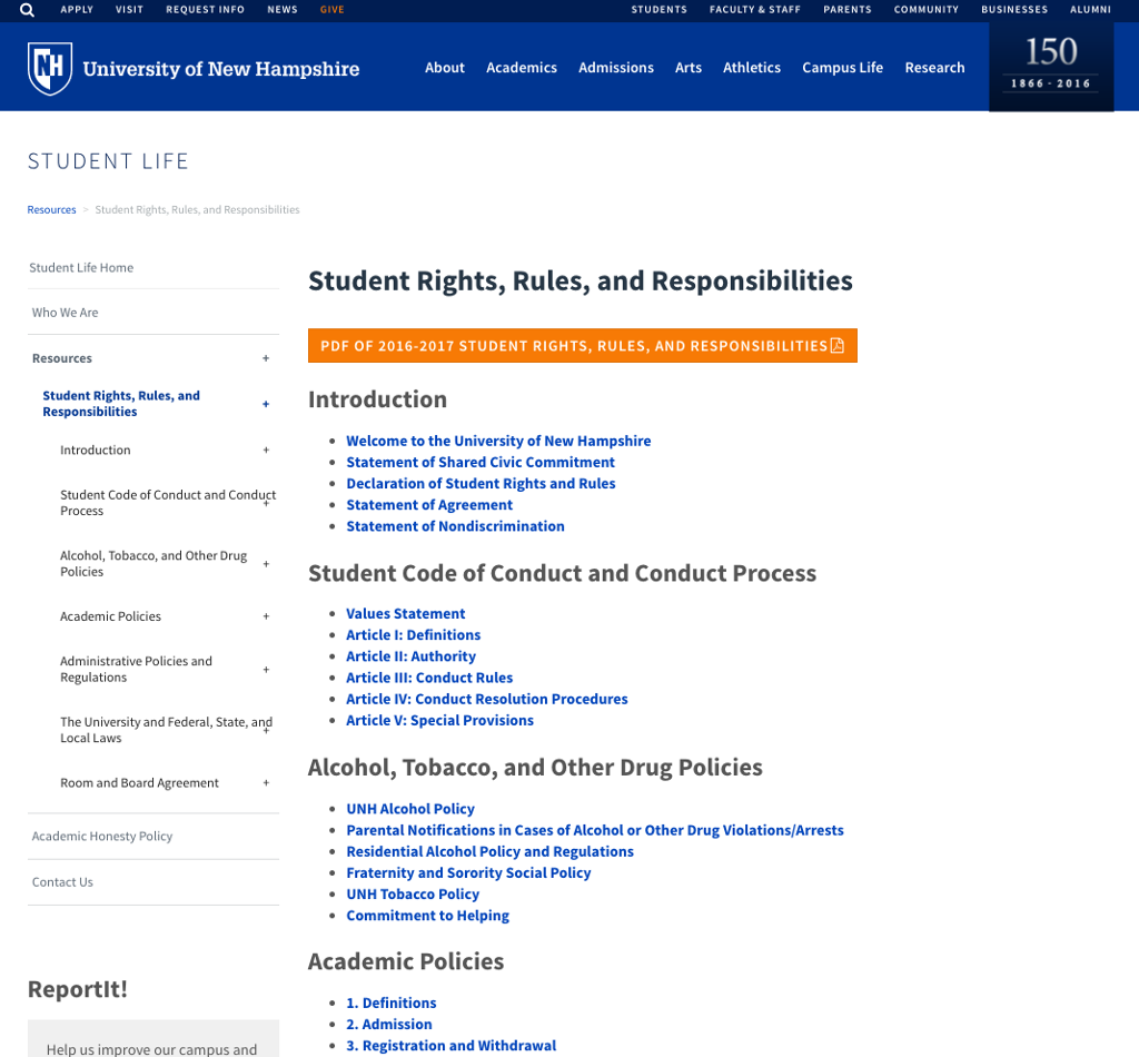 Student Rights Rules & Responsibilities