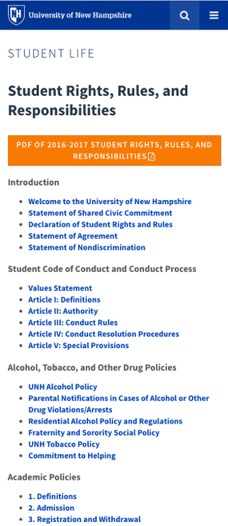 Student Rights Rules & Responsibilities - mobile